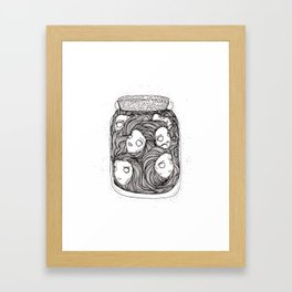 Bottled up emotions Framed Art Print