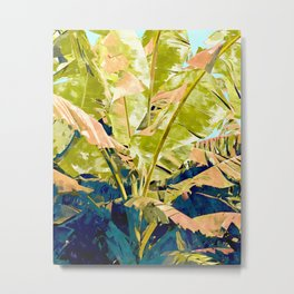 Blush Banana Tree Metal Print