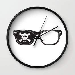 Hipster Pirate Wall Clock