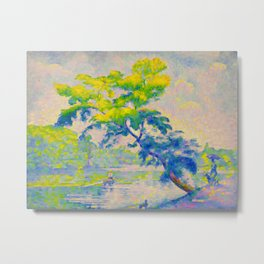 Bending Tree 1905 Henri-Edmond Cross Neo-Impressionism Pointillism Oil Painting Metal Print