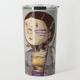 asian girl adventurer Travel Mug