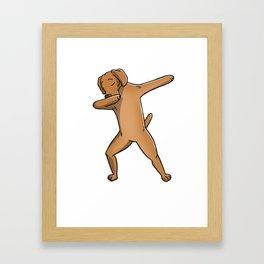 Funny Dabbing Vizsla Dog Dab Dance Framed Art Print