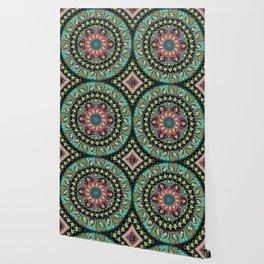 Avocado Yoga Medallion Wallpaper