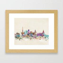 rome skyline vintage Framed Art Print