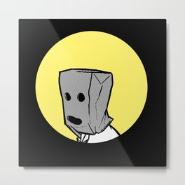 Mr. Paperbag Metal Print