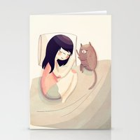 kitty Stationery Cards featuring Best Friends by Nan Lawson