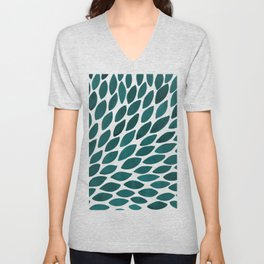 Watercolor brush strokes burst - teal Unisex V-Neck
