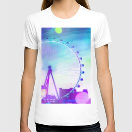 ferris wheel in the city at Las Vegas, USA with the night light bokeh T-shirt