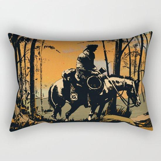in the evening Rectangular Pillow