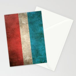 Old and Worn Distressed Vintage Flag of Luxembourg Stationery Cards