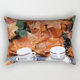 Teacups in the rain in Vancouver Rectangular Pillow