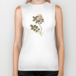 Vintage wild rose and washi tape Biker Tank