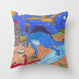 Spinosaurus by Javier Tan Throw Pillow