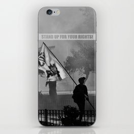 Stand up for your rights! iPhone Skin