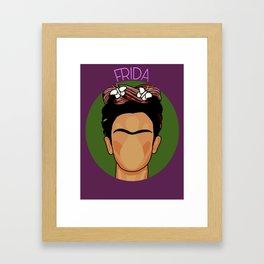 Cartoon Frida Framed Art Print