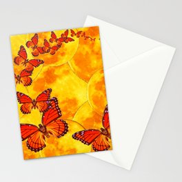 Golden Migration Monarch Butterflies Stationery Cards