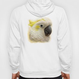 Sulphur Crested Cockatoo realistic painting Hoody