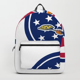 American Pizza Baker USA Flag Icon Backpack