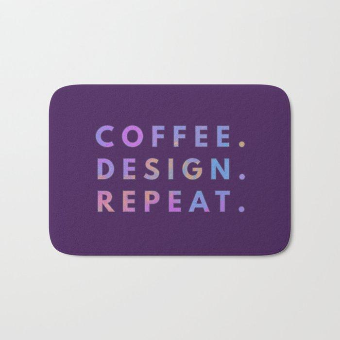 Coffee Design Repeat Bath Mat
