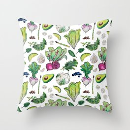 Superfood Pattern Throw Pillow