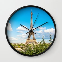 Cloud 9 - Eiffel Tower Wall Clock