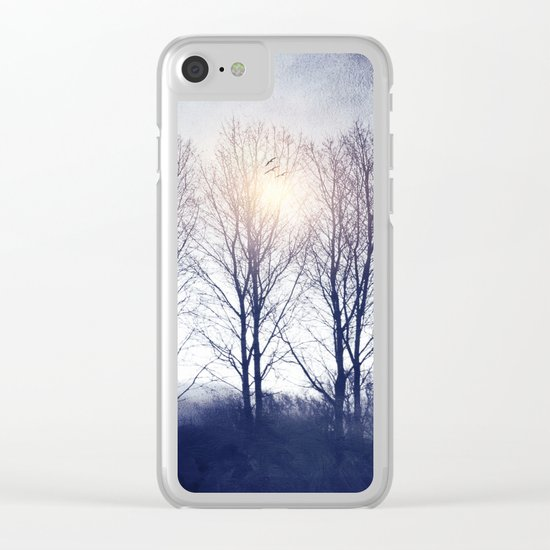 Winter Sequence II Clear iPhone Case