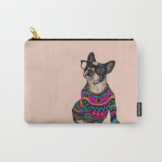 hipster frenchie Carry-All Pouch