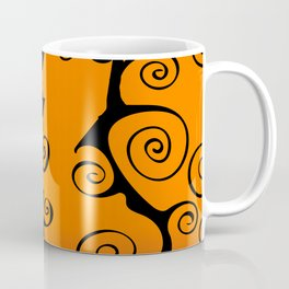Purple Orange and Black Nightmare Before Christmas Inspired Swirls Coffee Mug