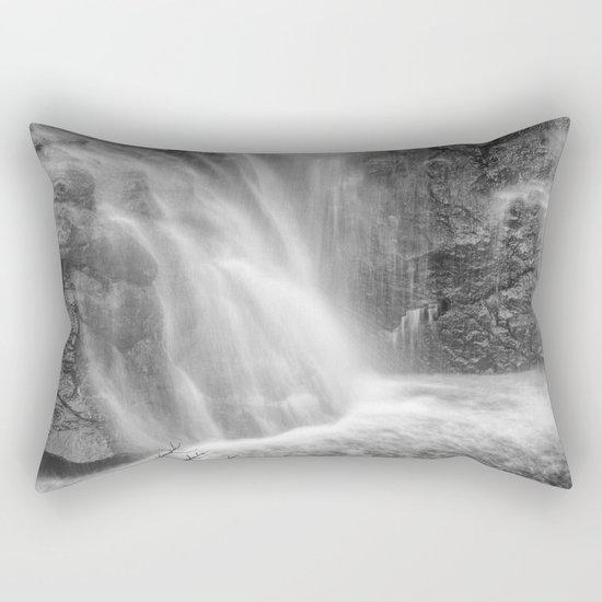 Mountains water. Monochrome. Rectangular Pillow