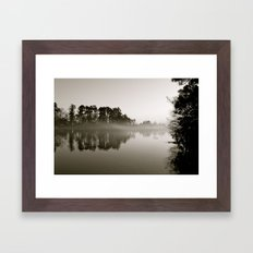 Misty Lake B&W Framed Art Print