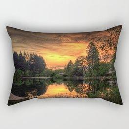 Golden Light On Loch Ard Rectangular Pillow