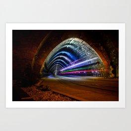 A tram tunnel in Bratislava, Slovakia Art Print