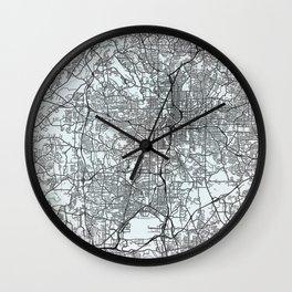 Atlanta, GA, USA White City Map Wall Clock