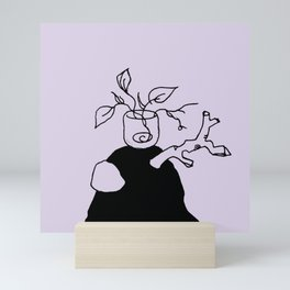 Plants and meditation - Purplevine Mini Art Print