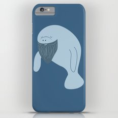 Silly Bearded Manatee iPhone 6 Plus Slim Case
