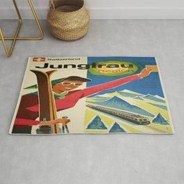Vintage poster - Jungfrau, Switzerland Rug