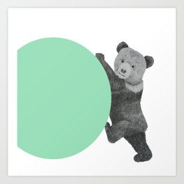 peppermint bear Art Print