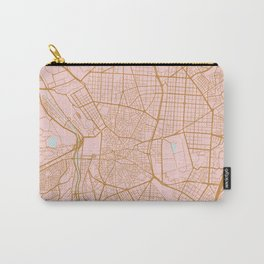 Pink and gold Madrid map, Spain Carry-All Pouch