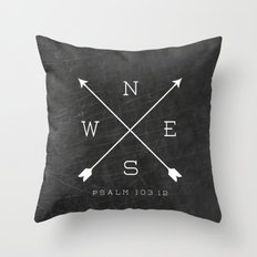 East & West Throw Pillow