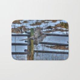 Dive, Dive, Dive! - Great Grey Owl Hunting Bath Mat