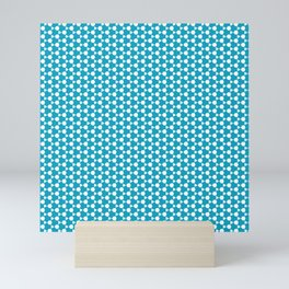 Abstract Turquoise Pattern 1 Mini Art Print