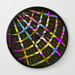 Sgraffito Fan Wall Clock