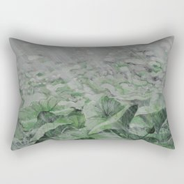 LOTUS IN THE RAIN Rectangular Pillow