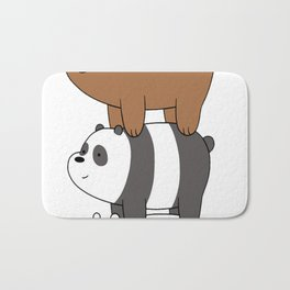We Bare Bears Stacked Up Bath Mat