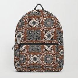 Gray Brown Taupe Beige Tan Black Hip Orient Bali Art Backpack