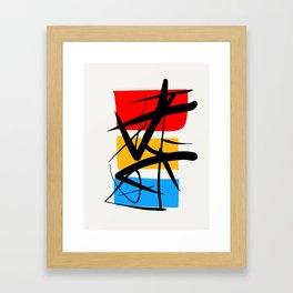 Synchronicity Abstract Art Minimalist in the zen spirit Framed Art Print