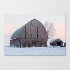 Soft Sunrise on a Winter's Morning Canvas Print
