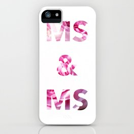 Ms & Ms Wedding Card iPhone Case