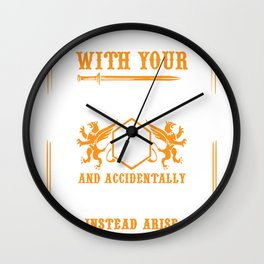 Arise Sir Orc Funny Tabletop Rpg Shirt Wall Clock