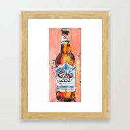 Coors Lite Framed Art Print